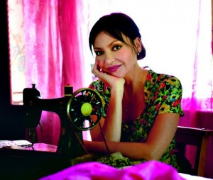 Pearl Lowe with sewing machine p.60